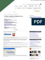CCleaner_ Instalación, configuración y uso