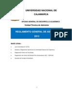 Reglamento UNC 2013