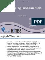E-Prescribing Fundamentals 2012.10.18
