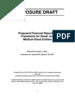 Financial Reporting Framework - Exposure Draft