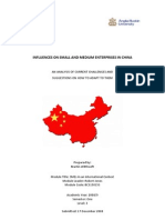 Influences on Small and Medium Enterprises in China
