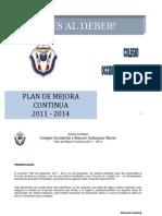 Plan de Mejora Continua La Barca