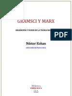 Gramsci y Marx. Hegemonía y poder en la teoría marxista - Néstor Kohan