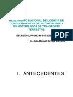 4reglamento Mtc Clases de Vehiculos