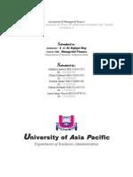 Assignment FIN 501(1)