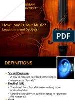 (Student Version) How Loud is YOUR Music