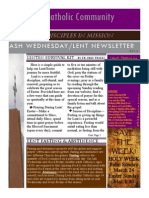 Ash Wednesday Newsletter 2013