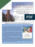 February 10 Bulletin