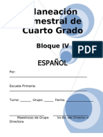 Plan - 4to Grado Bloque IV - Español