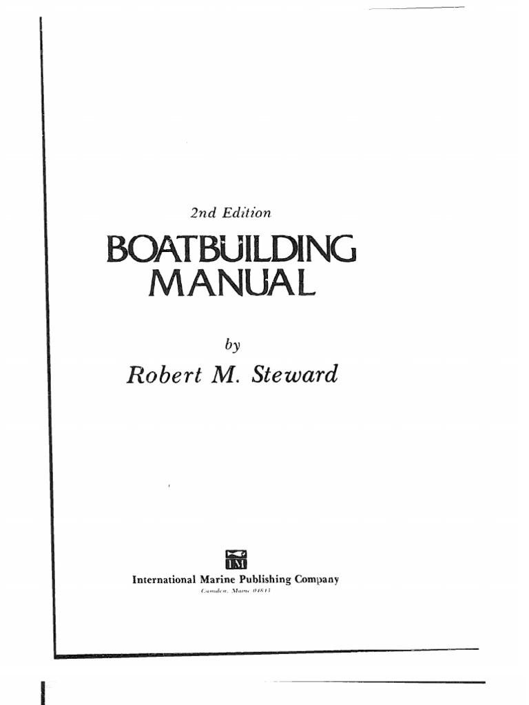 boat building manual pdf drill