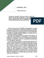 Hortensia Cuéllar - Filosofía, Hoy