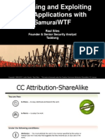 SamuraiWTF Course Slides v14 - BruCON 2012