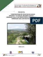 Colector Aguas Servidas y Pluviales Zorca