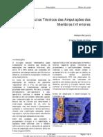 aspectos tecnicos das amputaçoes de MMII