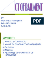 Law (Contract of Bailment Ppt)
