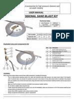 Sandblaster Kit User Manual