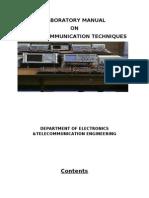 LABORATORY MANUAL ON Digital COMMUNICATION TECHNIQUES