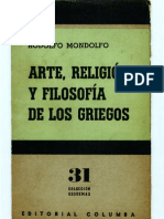 Mondolfo-Arte, Reloigion y Filosofia de Los Griegos OCR