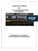 Laboratory Manual on Analog Communication Techniques(2003)