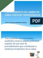 PROCEDIMIENTO DE CAMBIO DE LÍNEA CORTA DE TRANSFERENCIA