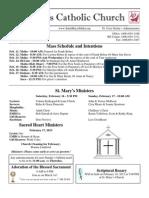 Bulletin for February 10, 2013
