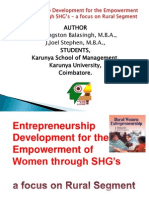 Entrepreneurship for the Women Through