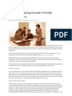 Tips for Creating Female Friendly Organisations