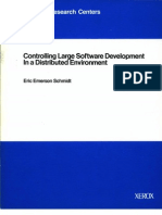 Controlling Large Software Development in a Distributed Environment