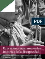 Educación y esperanza en las fronteras de la discapacidad. Estudio de caso único sobre la construcción creativa de la identidad