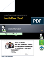 Learn about Incitation Card with Mr. Cepi