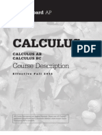 AP Calculus AB-BC Course Description, Effective Fall 2012 (Sample Exams)