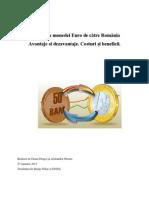 Adoptarea monedei Euro de către România