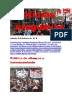 Noticias Uruguayas sábado 9 de febrero del 2013