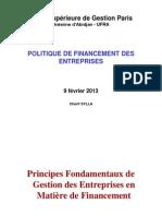 Politique de Financement Des Entreprises Ufra 2011