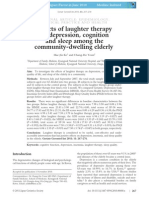 Effects of Laughter Therapy