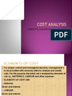 Analysis of Cost