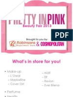 Robinsons Department Store Pretty in Pink Beauty Fair 2013