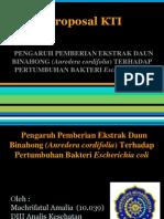 Proposal KTI Bakteriologi