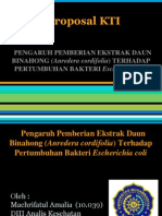 Proposal KTI Bakteriologi