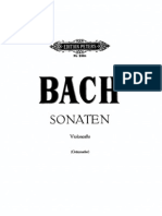 Bach - 6 Suites Sonatan for Cello solo