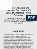 Prognostic Factors and Treatment Outcomes of 100 Cases
