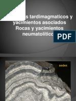 presentacion 8 Procesos tardimagmaticos y yacimientos asociados.pptx