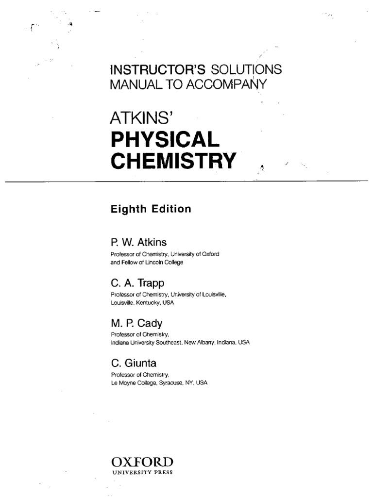 Atkins U2019 Physical Chemistry