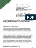 """""""Tutela del Territorio traPetrolio, Acqua e Sismicità in Alta Val d'Agri"""""""