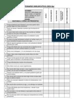 Cuestionario Disejecutivo (DEX-Sp)