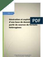 Génération et exploitation d'une base de données XML à partir de sources de formats hétérogènes