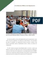 FUNDAMENTO DE MERCADEO- IMPORTANCIA DE LAS RELACIONES PÚBLICAS- MARIA A MORAO - CHRISTIAN ADRIAN RAMÍREZ