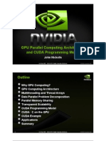 GPU Parallel Computing Architecture and CUDA Programming Model