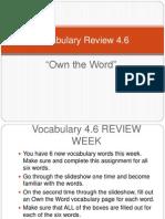 Vocabulary Review 4