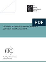 Guidelines for the Computer Based Assessments